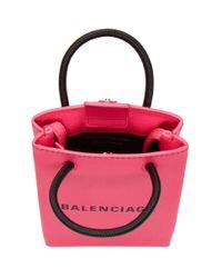 Balenciaga ピンク ショッピング フォン ホルダー バッグ Pink