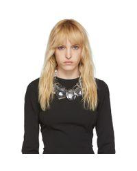 Monies トランスペアレント Doha ネックレス Black