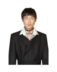 Alexander McQueen - Black Leather Padlock Choker for Men - Lyst