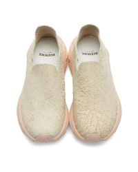 Diemme Natural Beige And Pink Suede One Slip-on Sneakers