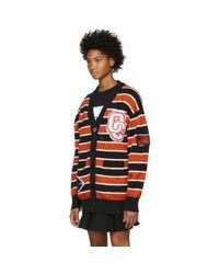 Opening Ceremony - Black Varsity Striped Long Cardigan - Lyst