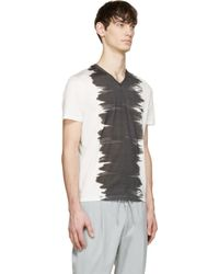Calvin Klein - Gray White & Black Watercolour T-shirt for Men - Lyst