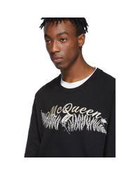 メンズ Alexander McQueen ブラック Fern スウェットシャツ Black