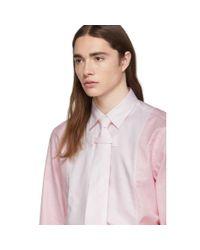 メンズ Burberry ピンク オックスフォード シャツ Pink