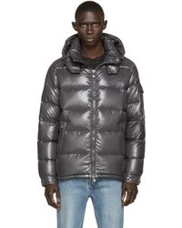 Moncler   Gray Charcoal Quilted Down Maya Jacket for Men   Lyst
