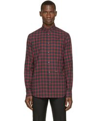 DSquared² | Red & Grey Check Shirt for Men | Lyst