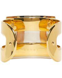 Marni - Black Horn Cuff Bracelet - Lyst
