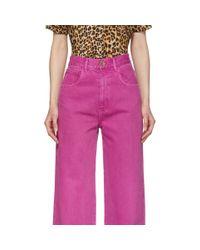 Jean rose Marfa Nanushka en coloris Pink