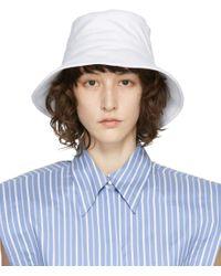 Isabel Marant ホワイト Loiena バケット ハット Blue