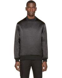 Wanda Nylon | Black Textured Alan Sweater for Men | Lyst