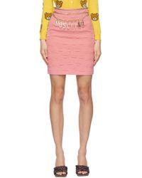 Moschino Smiley© エディション ピンク ミニスカート Pink