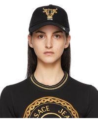 Versace Jeans ブラック ベースボール キャップ Black