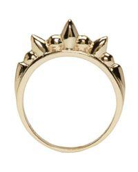 Pamela Love Metallic Gold Spike Ring
