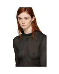 Givenchy Black Ribbed 4g Knit Sweater