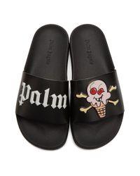 Palm Angels Icecream Edition ブラック プール スライド Black