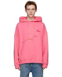 メンズ we11done ピンク Cut-out フーディ Pink