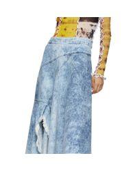 Jupe portefeuille asymetrique en denim bleue Marques'Almeida en coloris Blue