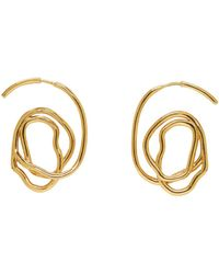 Ellery Metallic Gold Memphis Earrings