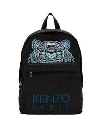 メンズ KENZO ブラック Kampus タイガー バックパック Black