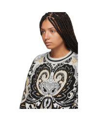 Pull en maille multicolore Giant Paisley Jacquard See By Chloé