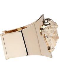 Versace Metallic Gold Medusa Cuff Bracelet