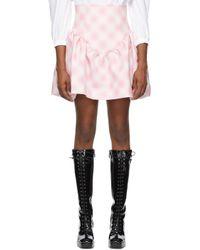 ShuShu/Tong ピンク チェック Ruffle ミニスカート Pink