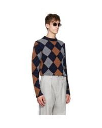 Acne - Blue Navy Newton Sweater for Men - Lyst