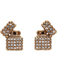 Marc Jacobs - Metallic Gold Strass Lighter Earrings - Lyst