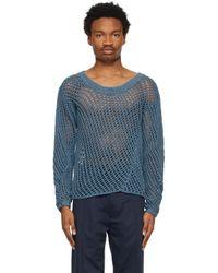 メンズ Nicholas Daley ブルー Garment-dyed セーター Blue