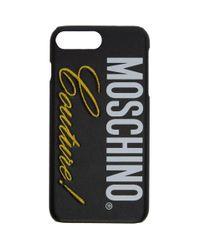 メンズ Moschino ブラック Couture Iphone 8 Plus ケース Black