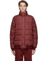 メンズ Adidas Originals Jonah Hill Edition レッド パファー ダウン ジャケット Red