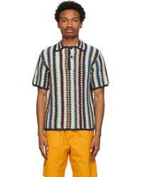 メンズ WOOD WOOD マルチカラー Crochet Pete ポロシャツ Multicolor