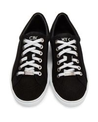 Jimmy Choo - Black Suede Cash Sneakers for Men - Lyst