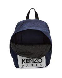 KENZO ネイビー And オフホワイト タイガー バックパック Blue