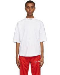メンズ Palm Angels ホワイト Classic ロゴ T シャツ White