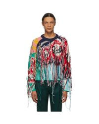 メンズ CHARLES JEFFREY LOVERBOY マルチカラー Guddle Tassle セーター Multicolor