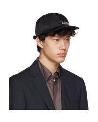 メンズ Lanvin ブラック ロゴ キャップ Black