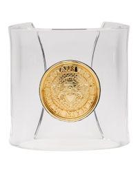 Bracelet manchette transparent Gold Coin Balmain en coloris Metallic