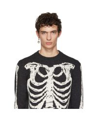 Alexander McQueen - Metallic Gold Single Skull Medallion Earring for Men - Lyst