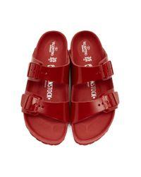 Valentino Garavani コレクション Birkenstock Edition レッド Arizona Bs サンダル Red