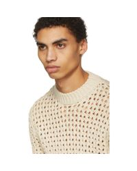 Acne - Off-white Noailles Solid Sweater for Men - Lyst