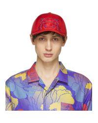 KENZO Red Neoprene Tiger Cap for men