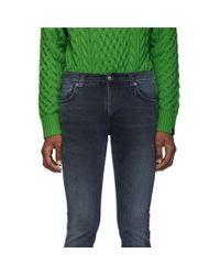 メンズ Nudie Jeans ブラック Thin Finn ジーンズ Black