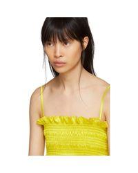 Molly Goddard Yellow Lara Top