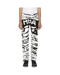 Hood By Air - Black & White Peel Regular 2 Jeans for Men - Lyst