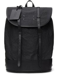 メンズ Maison Margiela ブラック バックパック Black