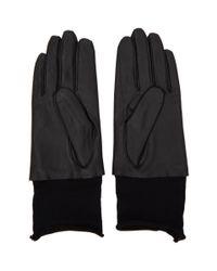 Gants a logo en cuir noirs Undercover pour homme en coloris Black