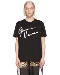 Versace ブラック Gv シグネチャ T シャツ Black