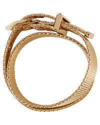 Lanvin - Metallic Gold Wrap Bracelet - Lyst