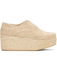Robert Clergerie | Brown Tan Rafia Flatform Pinto Shoes | Lyst